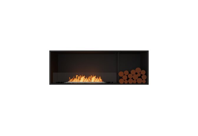 Flex 60SS.BXR Single Sided - Ethanol / Black / Installed View by EcoSmart Fire