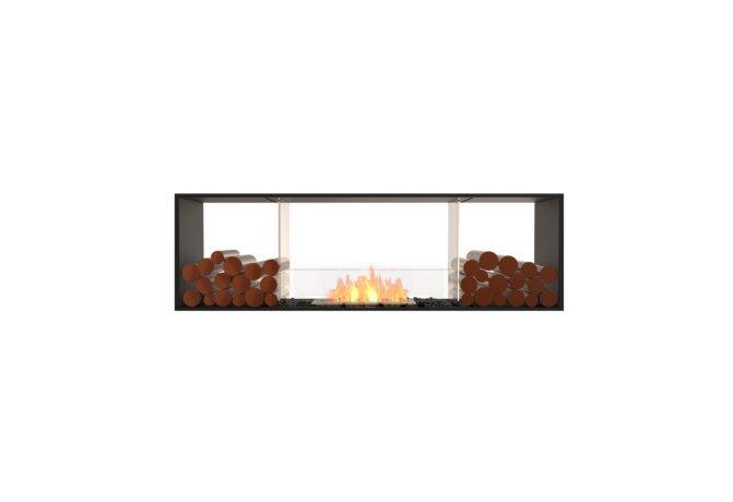 Flex 68DB.BX2 Flex Fireplace - Ethanol / Black / Installed View by EcoSmart Fire