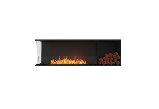 Flex 68LC.BXR Flex Fireplace - Ethanol / Black / Installed View by EcoSmart Fire