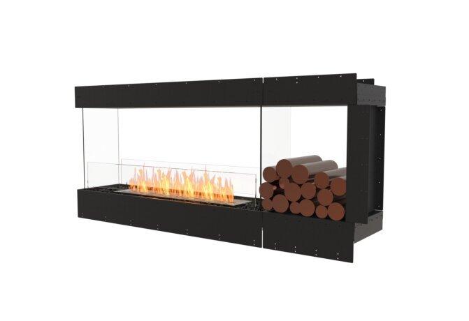 Flex 68PN.BXR Peninsula - Ethanol / Black / Uninstalled View by EcoSmart Fire