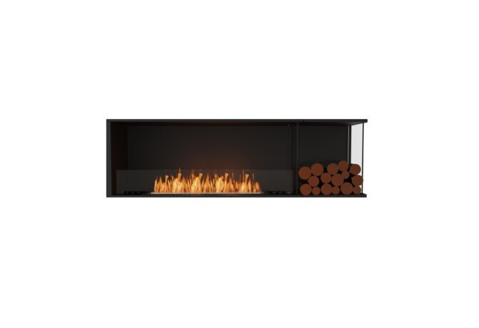 Flex 68RC.BXR Flex Fireplace - Ethanol / Black / Installed View by EcoSmart Fire