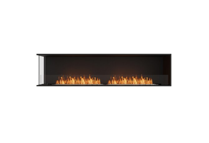 Flex 86LC Left Corner - Ethanol / Black / Installed View by EcoSmart Fire