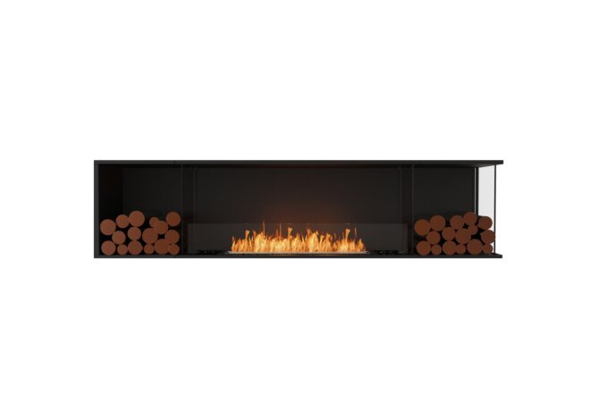 Flex 86RC.BX2 Right Corner - Ethanol / Black / Installed View by EcoSmart Fire