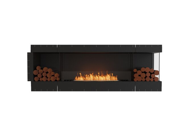 Flex 86RC.BX2 Right Corner - Ethanol / Black / Uninstalled View by EcoSmart Fire