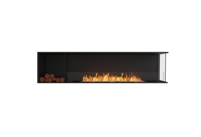 Flex 86RC.BXL Flex Fireplace - Ethanol / Black / Installed View by EcoSmart Fire
