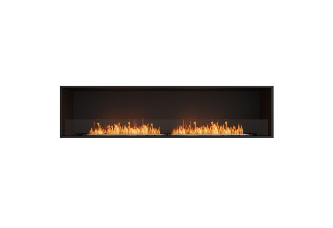 Flex 86SS Flex Fireplace - Ethanol / Black / Installed View by EcoSmart Fire
