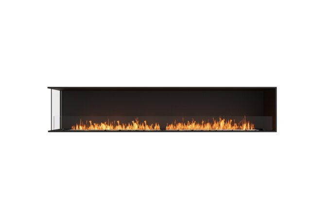Flex 104LC Flex Fireplace - Ethanol / Black / Installed View by EcoSmart Fire