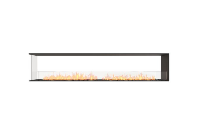 Flex 104PN Peninsula - Ethanol / Black / Installed View by EcoSmart Fire