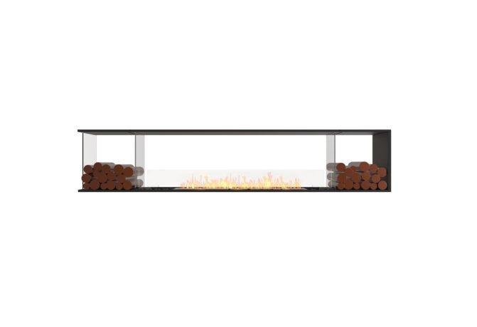 Flex 104PN.BX2 Flex Fireplace - Ethanol / Black / Installed View by EcoSmart Fire