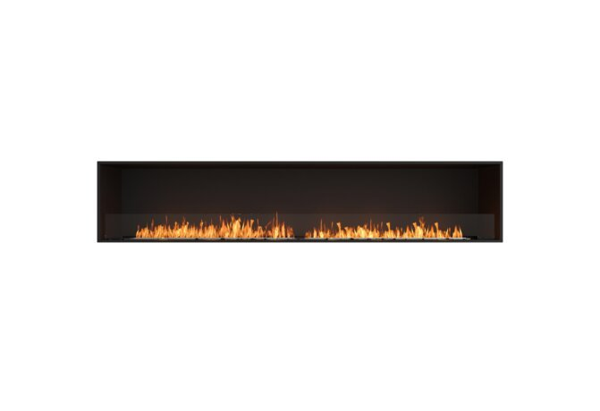 Flex 104SS Flex Fireplace - Ethanol / Black / Installed View by EcoSmart Fire