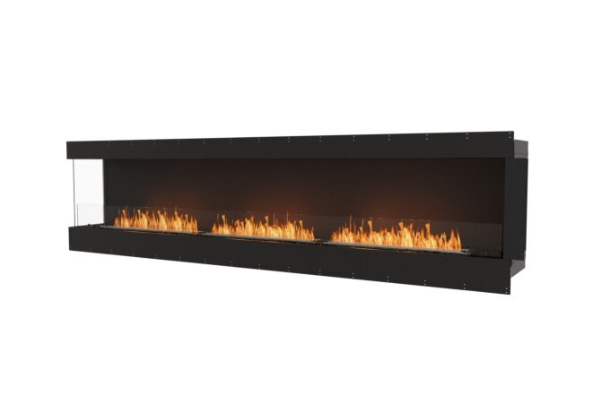 Flex 122LC Left Corner - Ethanol / Black / Uninstalled View by EcoSmart Fire