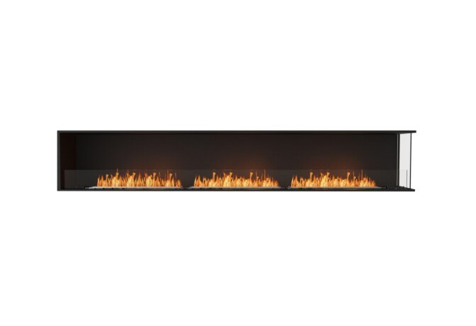 Flex 122RC Right Corner - Ethanol / Black / Installed View by EcoSmart Fire