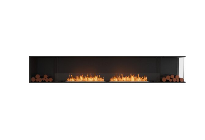 Flex 122RC.BX2 Flex Fireplace - Ethanol / Black / Installed View by EcoSmart Fire