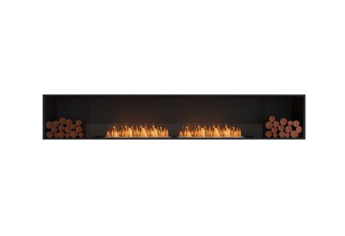Flex 122SS.BX2 Flex Fireplace - Ethanol / Black / Installed View by EcoSmart Fire