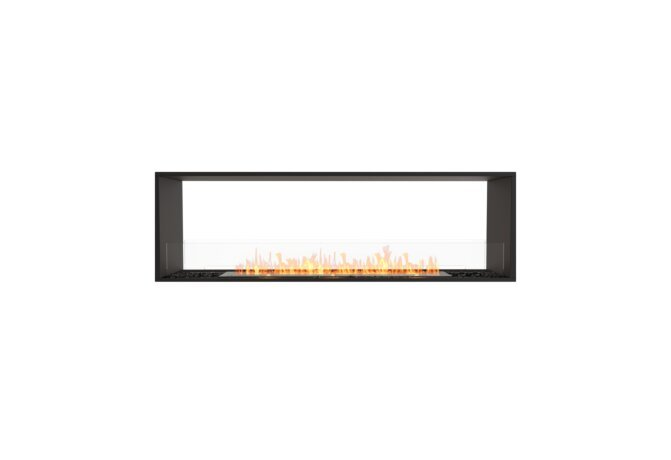 Flex 68DB Flex Fireplace - Ethanol / Black / Installed View by EcoSmart Fire