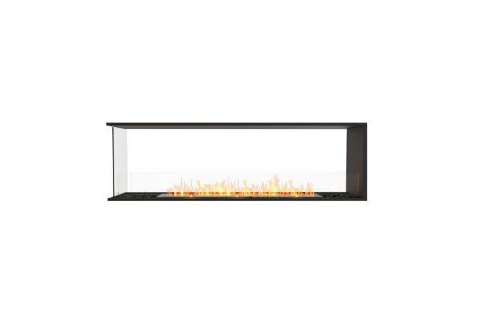 Flex 68PN Peninsula - Ethanol / Black / Installed View by EcoSmart Fire