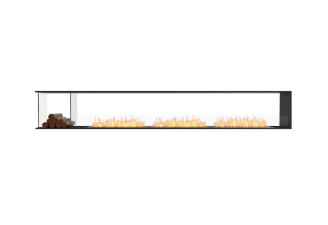 Flex 140PN.BXL Flex Fireplace - Ethanol / Black / Installed View by EcoSmart Fire