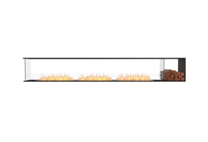 Flex 140PN.BXR Fireplace Insert - Ethanol / Black / Installed View by EcoSmart Fire