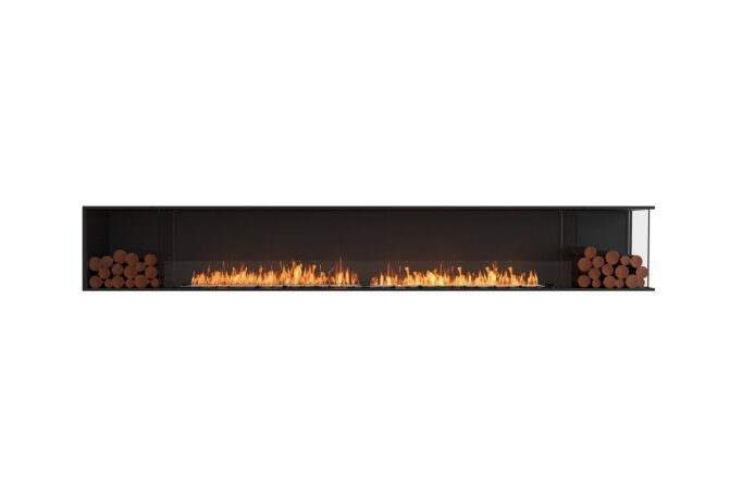 Flex 140RC.BX2 Right Corner - Ethanol / Black / Installed View by EcoSmart Fire