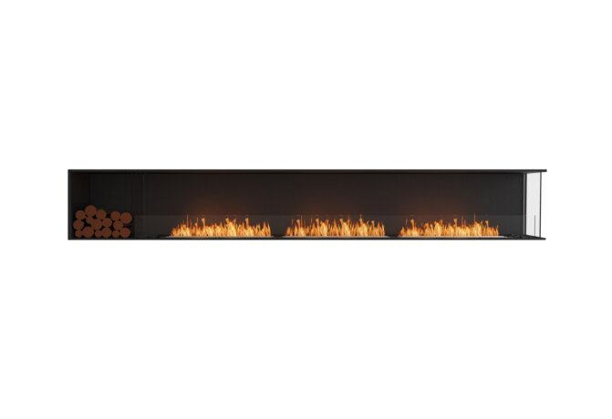 Flex 140RC.BXL Flex Fireplace - Ethanol / Black / Installed View by EcoSmart Fire