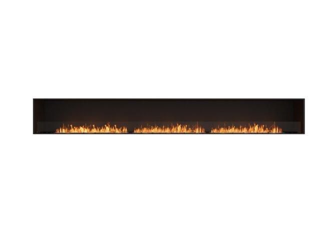 Flex 158SS Flex Fireplace - Ethanol / Black / Installed View by EcoSmart Fire