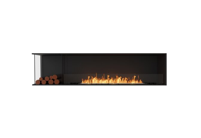 Flex 86LC.BXL Left Corner - Ethanol / Black / Installed View by EcoSmart Fire