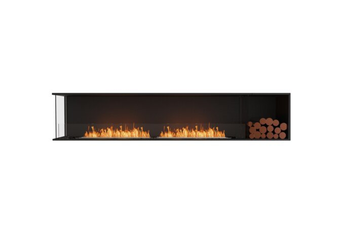 Flex 104LC.BXR Left Corner - Ethanol / Black / Installed View by EcoSmart Fire