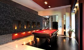Billiard Room Indoor Fireplaces Flex Fireplace Idea