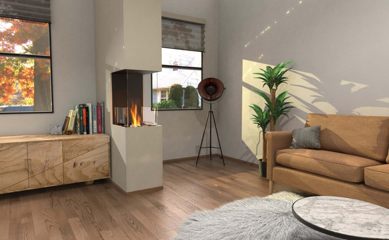 Flex 18PN Flex Fireplace - Studio Image by EcoSmart Fire