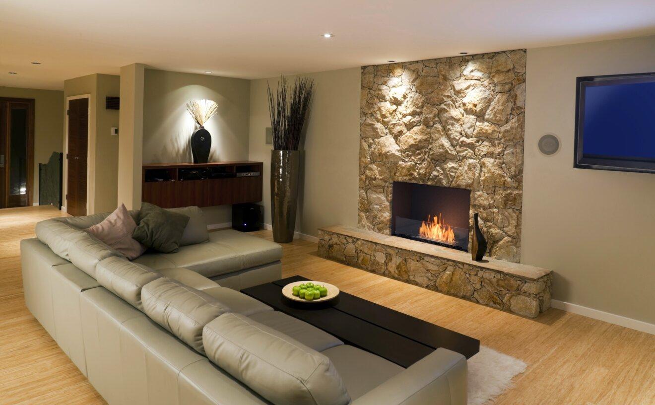 Flex 32SS Flex Fireplace - Studio Image by EcoSmart Fire