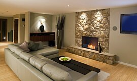Lounge Room Indoor Fireplaces Flex Fireplace Idea