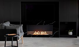 Syrenuse Apartments Single Sided Fireboxes XL Burners Flex Fireplace Idea