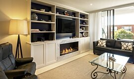 Tresor Drummoyne Single Sided Fireboxes XL Burners Flex Fireplace Idea