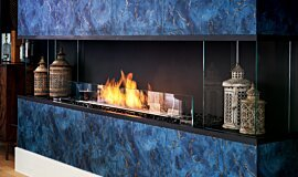 The Barns, UK Single Sided Fireboxes XL Burners Flex Fireplace Idea