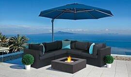 Paulas Home Living Fluid Concrete Technology Fire Table Idea