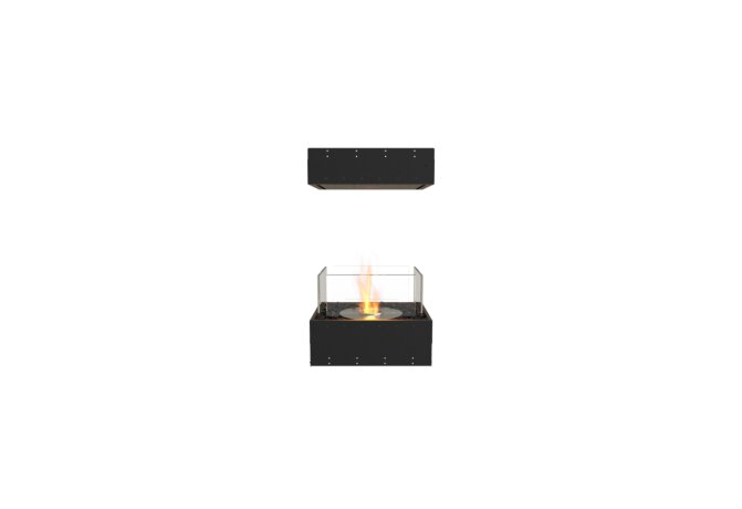 Flex 18IL Island - Ethanol / Black / Uninstalled View by EcoSmart Fire