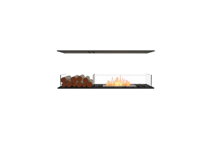Flex 50IL.BX1 Flex Fireplace - Ethanol / Black / Installed View by EcoSmart Fire