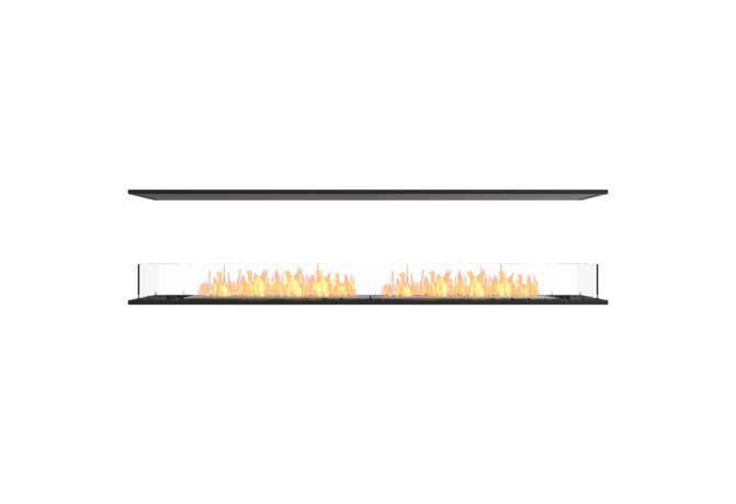 Flex 86IL Flex Fireplace - Ethanol / Black / Installed View by EcoSmart Fire