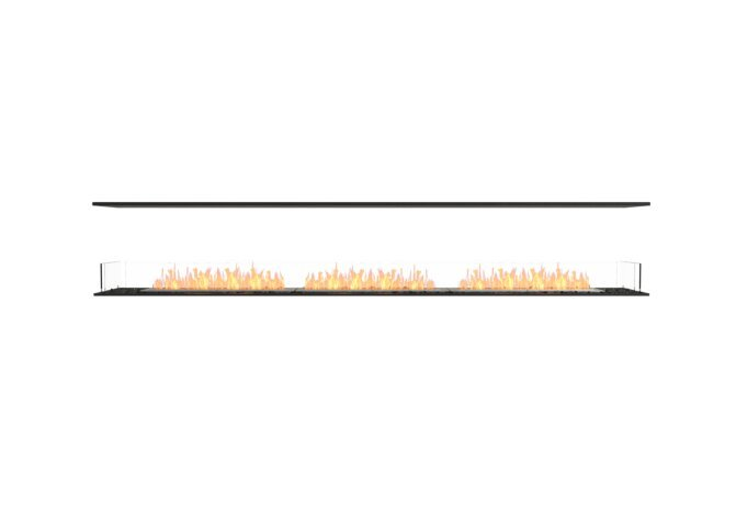 Flex 122IL Flex Fireplace - Ethanol / Black / Installed View by EcoSmart Fire