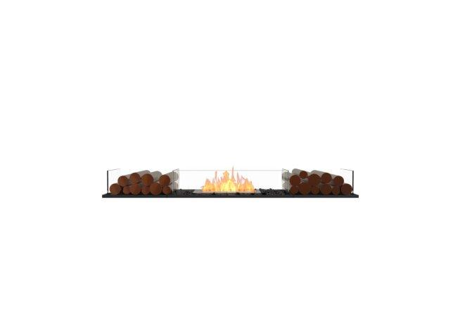 Flex 68BN.BX2 Flex Fireplace - Ethanol / Black / Installed View by EcoSmart Fire