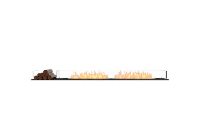 Flex 104BN.BX1 Flex Fireplace - Ethanol / Black / Installed View by EcoSmart Fire