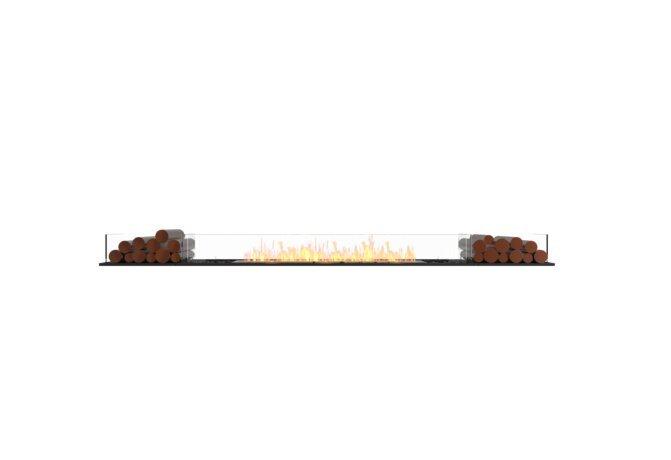 Flex 104BN.BX2 Flex Fireplace - Ethanol / Black / Installed View by EcoSmart Fire