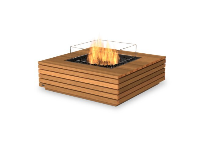Base 40 Fire Table - Gas LP/NG / Teak by EcoSmart Fire