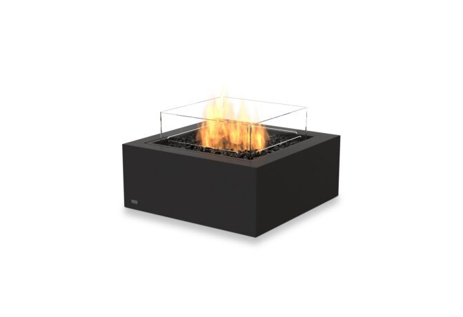 Base 30 Fire Table - Gas LP/NG / Graphite / *Optional Fire Screen by EcoSmart Fire