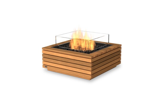 Base 30 Fire Table - Gas LP/NG / Teak by EcoSmart Fire
