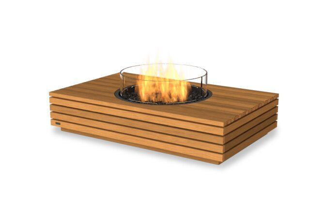 Martini 50 Fire Table - Gas LP/NG / Teak by EcoSmart Fire