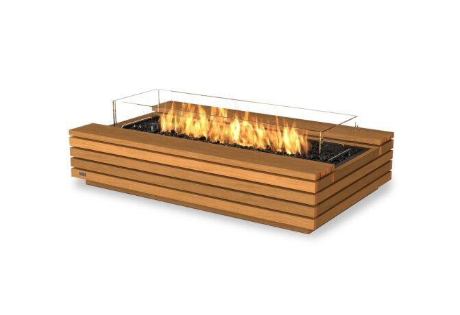 Cosmo 50 Fire Table - Gas LP/NG / Teak by EcoSmart Fire