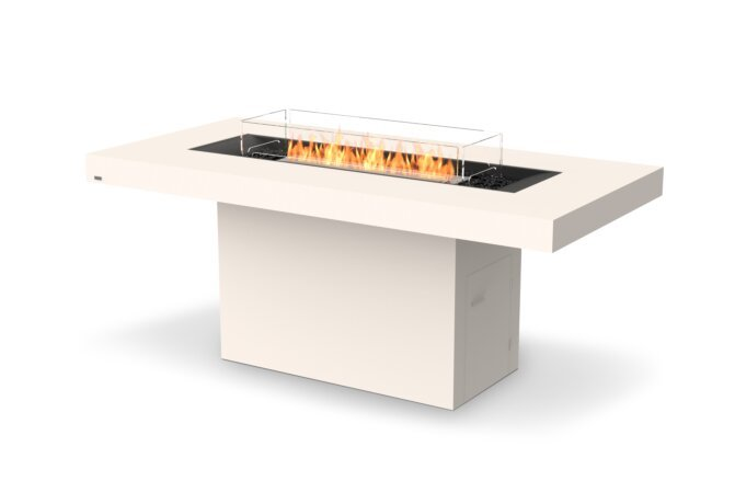 Gin 90 (Bar) Fire Table - Ethanol / Bone / Optional Fire Screen by EcoSmart Fire
