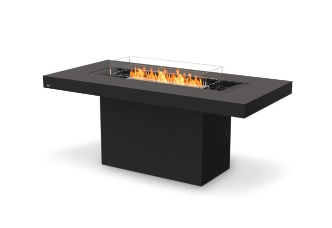 Gin 90 (Bar) Fire Table - Ethanol / Graphite / Optional Fire Screen by EcoSmart Fire