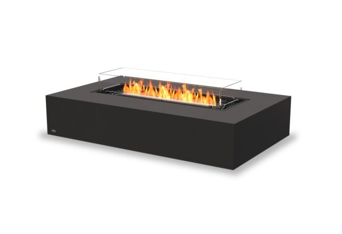 Wharf 65 Fire Table - Ethanol - Black / Graphite / Optional Fire Screen by EcoSmart Fire